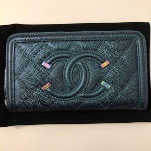 Chanel Filigree Zippy Wallet